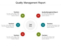 Quality Management Report Ppt Powerpoint Presentation Infographics Cpb