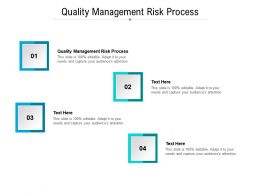 Quality Management Risk Process Ppt Powerpoint Presentation Icon Show Cpb
