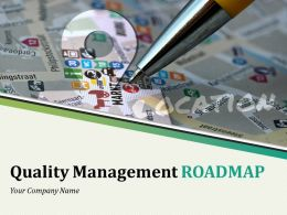 Quality Management Roadmap Powerpoint Presentation Slides