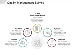 Quality Management Service Ppt Powerpoint Presentation Infographic Template Layouts Cpb