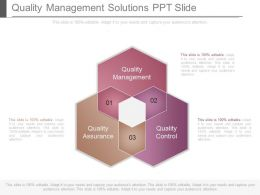 Quality Management Solutions Ppt Slide