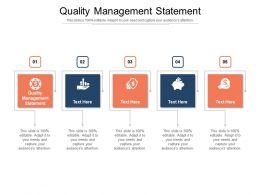 Quality Management Statement Ppt Powerpoint Presentation Slides Elements Cpb