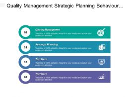 Quality Management Strategic Planning Behaviour Management Strategic Planning Cpb