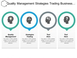 Quality Management Strategies Trading Business Opportunity Performance Management Cpb