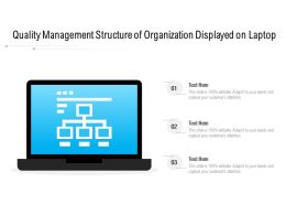 Quality Management Structure Of Organization Displayed On Laptop
