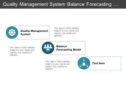 Quality Management System Balance Forecasting Model Industry Reporting Solutions Cpb