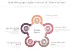 Quality Management System Certificate Ppt Powerpoint Ideas