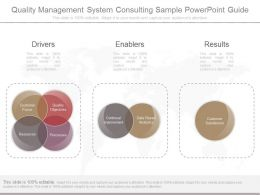 Quality Management System Consulting Sample Powerpoint Guide