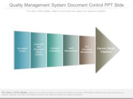 Quality Management System Document Control Ppt Slide