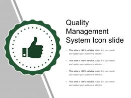 Quality Management System Icon Slide