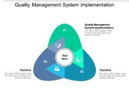 Quality Management System Implementation Ppt Powerpoint Presentation Inspiration Icon Cpb