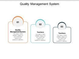 Quality Management System Ppt Powerpoint Presentation Show Pictures Cpb