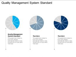 Quality Management System Standard Ppt Powerpoint Presentation Gallery Demonstration Cpb