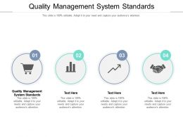 Quality Management System Standards Ppt Powerpoint Presentation Portfolio Cpb