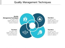 Quality Management Techniques Ppt Powerpoint Presentation Show File Formats Cpb