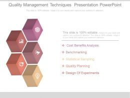 Quality Management Techniques Presentation Powerpoint