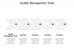 Quality Management Tools Ppt Powerpoint Presentation Pictures Images Cpb