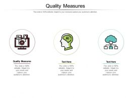 Quality Measures Ppt Powerpoint Presentation Infographic Template Styles Cpb