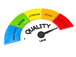 Quality Meter With Arrow Pointing On Maximum Stock Photo