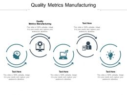 Quality Metrics Manufacturing Ppt Powerpoint Presentation Ideas Examples Cpb