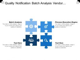 Quality Notification Batch Analysis Vendor Evaluation Usage Decision Processing