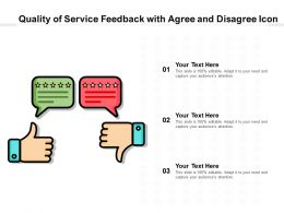 Quality Of Service Feedback With Agree And Disagree Icon