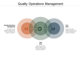 Quality Operations Management Ppt Powerpoint Presentation Slides Infographic Template Cpb