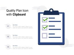 Quality Plan Icon With Clipboard
