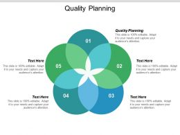 Quality Planning Ppt Powerpoint Presentation Icon Structure Cpb