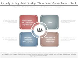 quality policy and quality objectives presentation deck