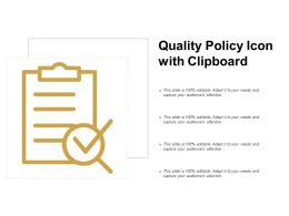 Quality Policy Icon With Clipboard