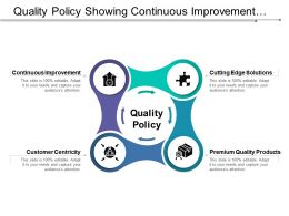 Quality Policy Showing Continuous Improvement And Customer Centricity