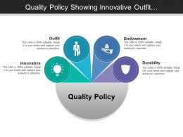 Quality Policy Showing Innovative Outfit Endowment And Durability