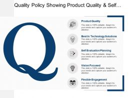 Quality Policy Showing Product Quality And Self Evaluation Planning