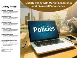 Quality Policy With Market Leadership And Financial Performance