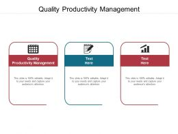 Quality Productivity Management Ppt Powerpoint Presentation Professional Gridlines Cpb