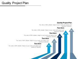 Quality Project Plan Ppt Powerpoint Presentation Gallery Elements Cpb