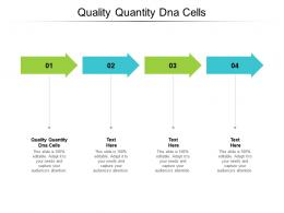 Quality Quantity DNA Cells Ppt Powerpoint Presentation Ideas Templates Cpb