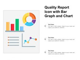 Quality Report Icon With Bar Graph And Chart