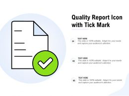 Quality Report Icon With Tick Mark