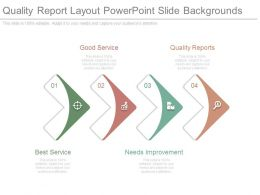Quality Report Layout Powerpoint Slide Backgrounds