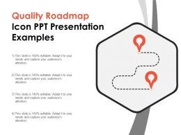Quality Roadmap Icon Ppt Presentation Examples