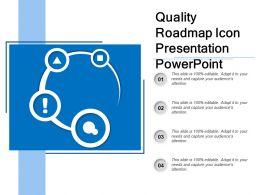 Quality Roadmap Icon Presentation Powerpoint