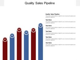 Quality Sales Pipeline Ppt Powerpoint Presentation Styles Outline Cpb