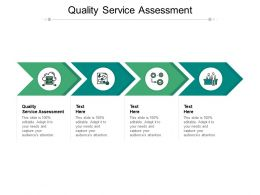 Quality Service Assessment Ppt Powerpoint Presentation Icon Aids Cpb