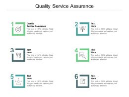 Quality Service Assurance Ppt Powerpoint Presentation Pictures Background Cpb