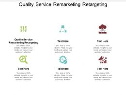 Quality Service Remarketing Retargeting Ppt Powerpoint Presentation Summary Information Cpb