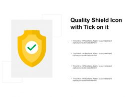 Quality Shield Icon With Tick On It