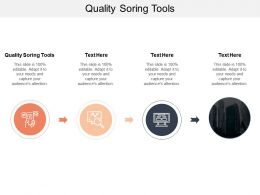 Quality Soring Tools Ppt Powerpoint Presentation Pictures Templates Cpb