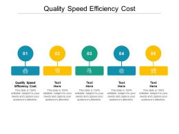 Quality Speed Efficiency Cost Ppt Powerpoint Presentation Layouts Mockup Cpb
